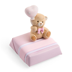 HAPPY TEDDY GIRL - Decorated Chocolate Square