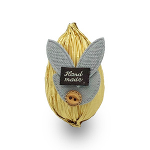 Small Chocolate Easter Egg in Gold Foil Wrapping