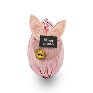 Chocolate Easter Egg Wrapped Pink Foil