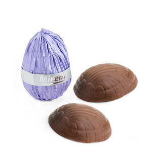 Chocolate Easter Eggs Wrapped in Lilac Foil