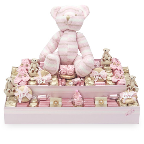 Pink Bear Double Layer Tray- Vintage Theme Collection