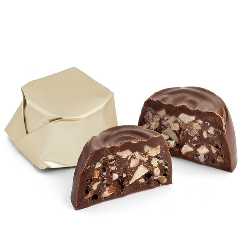 ROSETTE HAZELNUT PRALINE - Milk 4 oz. (Approx. 6 pcs)