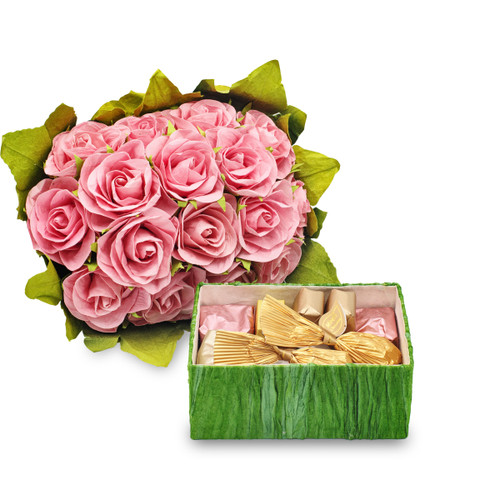 FLOWER GIFT BOX - Pink / 12.5 oz. Chocolate