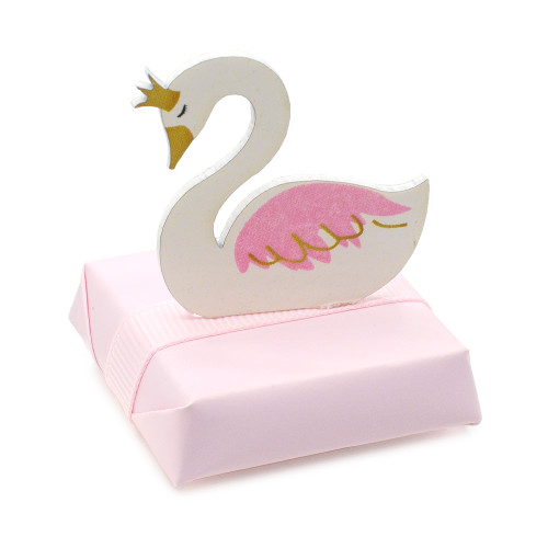 SWAN QUEEN - Decorated Chocolate Square