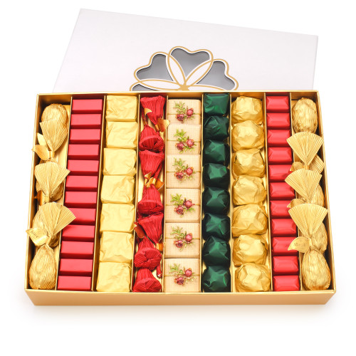 EXCELLENCE 2 - Holiday Chocolate Gift Box - White / Gold Accent