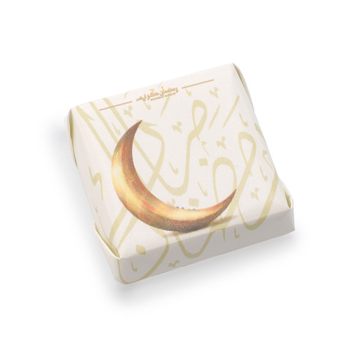 Hilāl decorated chocolate square double wrapped