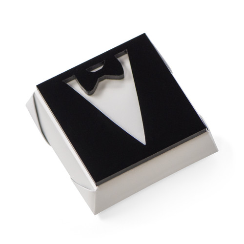 TUXEDO - Wedding Decorated Chocolate / White Metallic