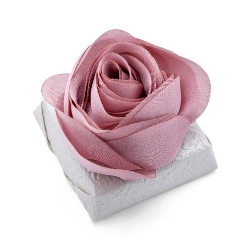ROSA - Decorated Wedding Chocolate Bar / Dusty Rose