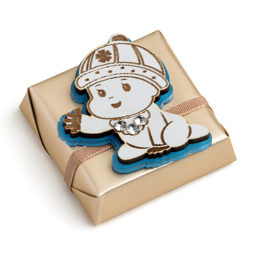 Decorated Baby Chocolate w/Blue Baby Motif