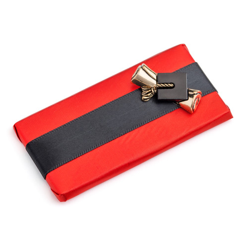 Decorated Chocolate Bar for Graduation - Red and Black