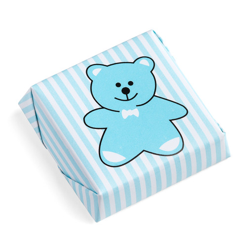 Teddy Bear Chocolate Squares Lined Pattern