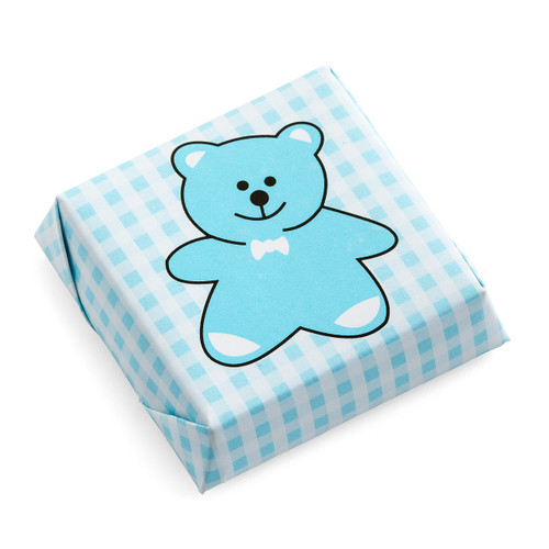 Teddy Bear Chocolate Squares Checkered Pattern