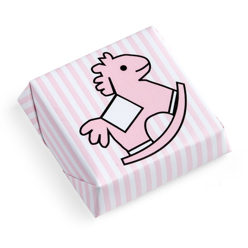 Rocking Horse Chocolate Squares lined Pattern Pink