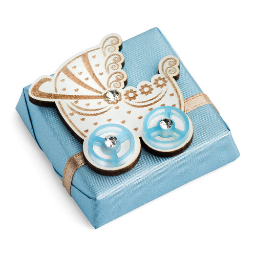 Decorated Baby Chocolate//Blue Baby Carriage