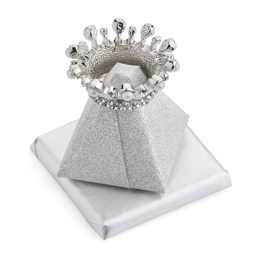 Pyramid Decorated Chocolate w/Silver Crown