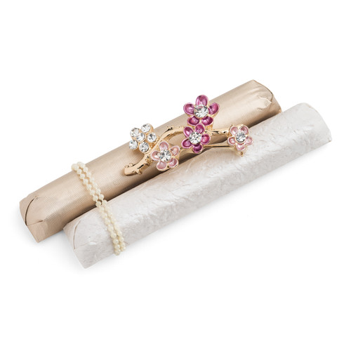 Decorated Chocolate Sticks w/Flower Brooch