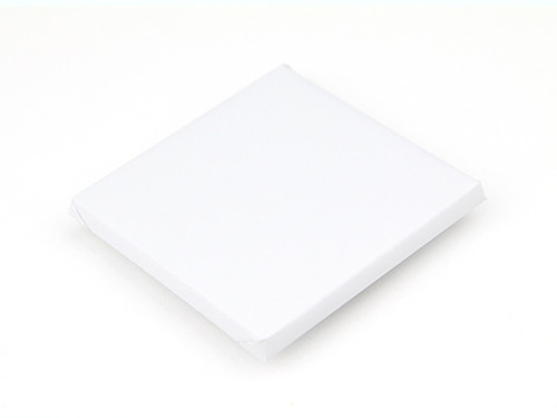 Large Square White Foil Wrapped Chocolate/White