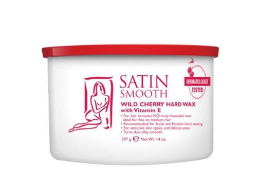Satin Smooth Wild Cherry Hard Wax for Fine to Medium Hair
