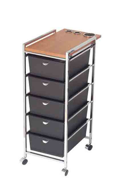 5 Tier Metal Frame Cart with Topper