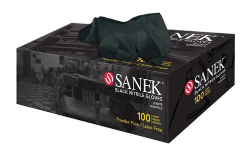 Sanek Black Nitrile Gloves