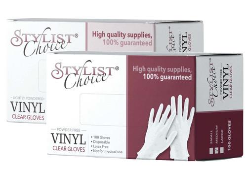 Stylist Choice Clear Vinyl Gloves