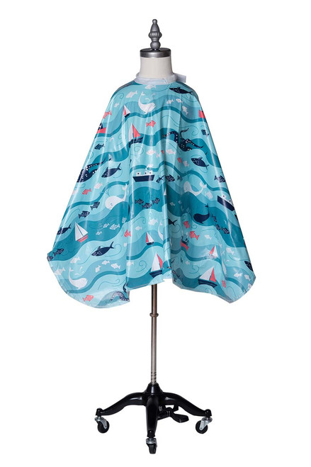 Kids Nautical Shampoo Cape