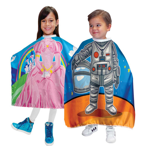 Princess/Astronaut Kids Shampoo Cape (2 Pack)
