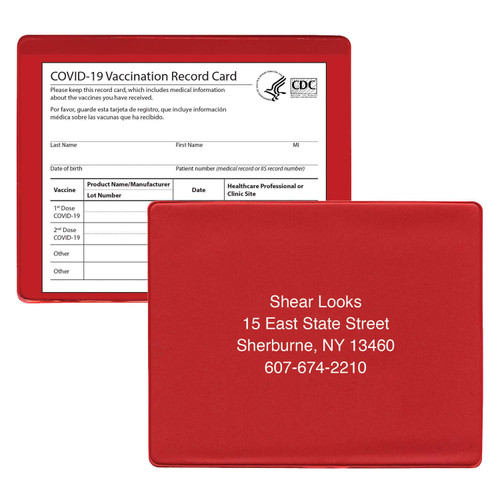 Personalized Vaccine Card Holders
