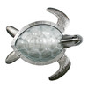 Sea Turtle Glass and Stainless Large Metal Wall Art