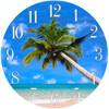 Glass Clock Palm Tree