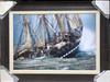 "Framed Ship At Sea 50"" x 38"""