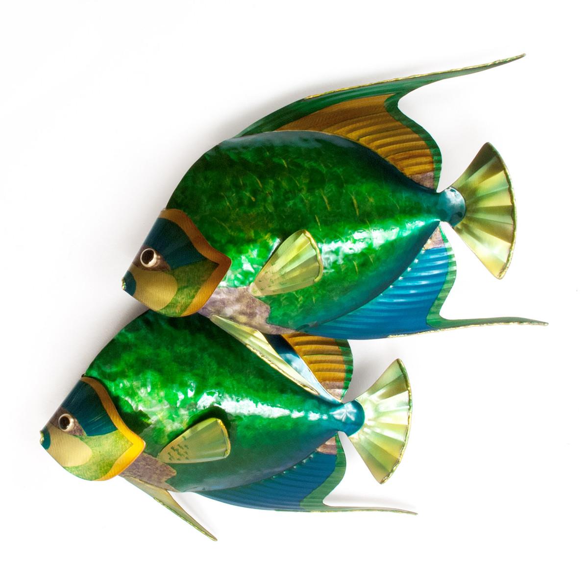 Queen Angelfish Pair - Metal Wall Art
