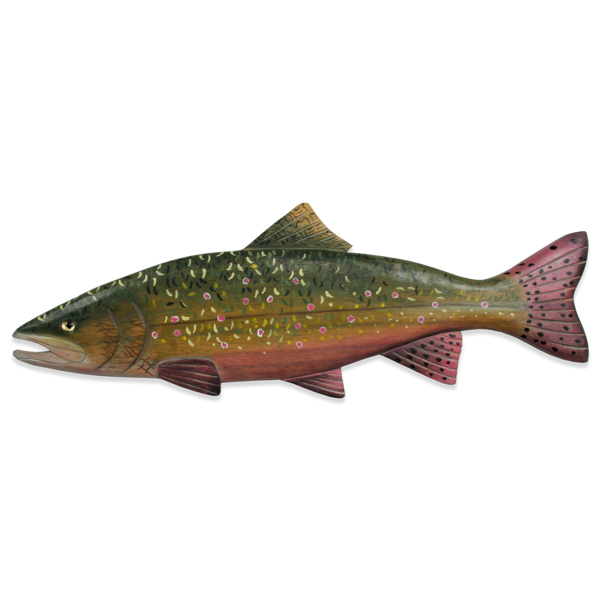 Brook Trout Hand Carved Wall Art - CW374