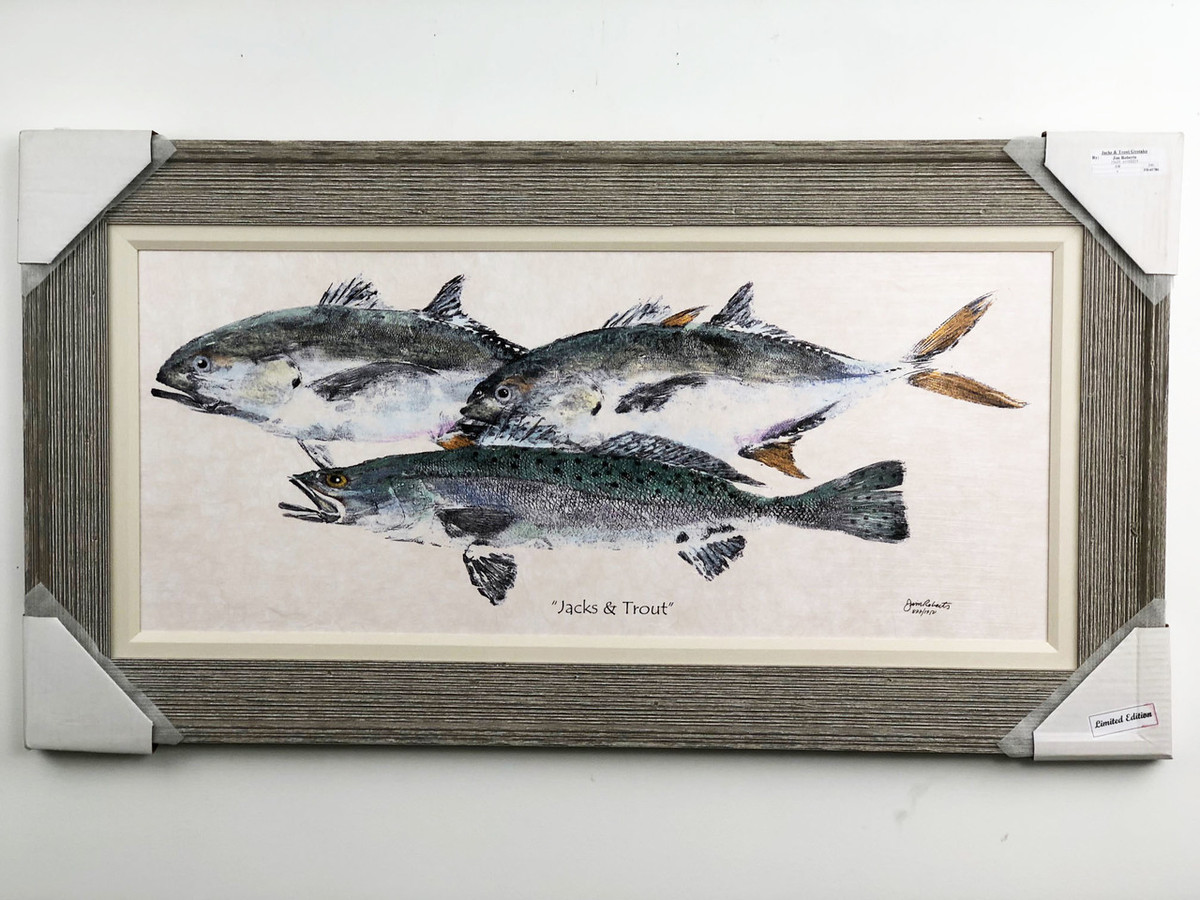 """Jacks with Trout Painting FD45780 43""""x 23"""""""