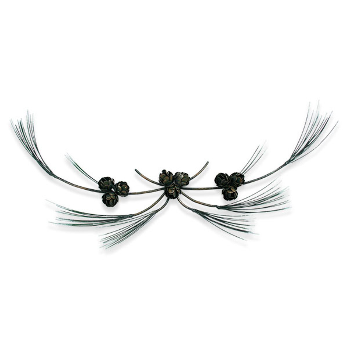 Pine Branch Swag Metal Wall Art