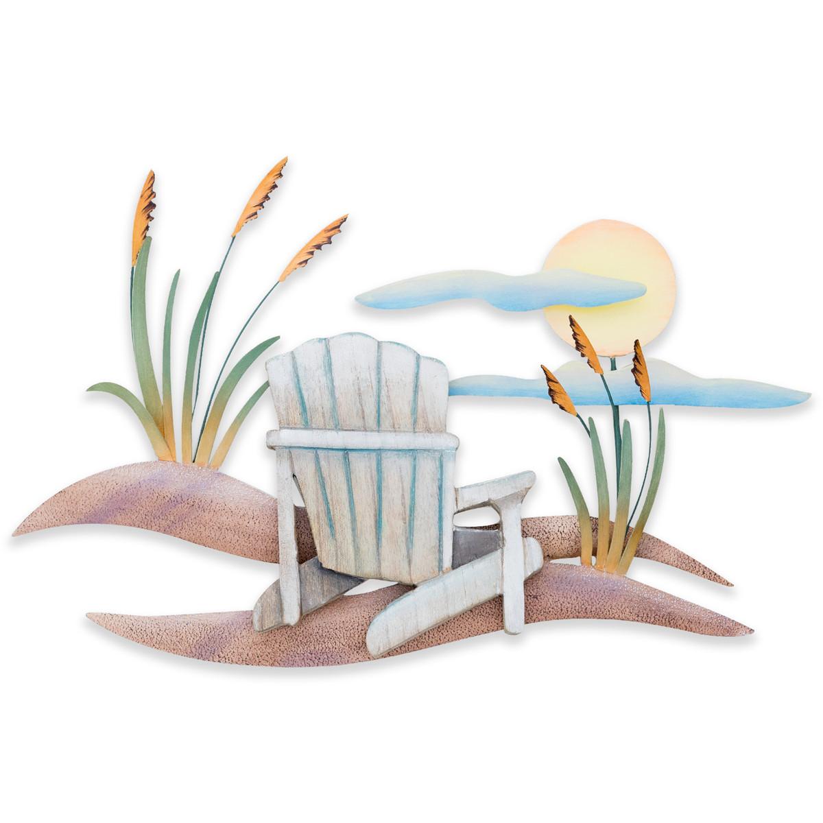 Beach Chair Scene Wall Art CW458