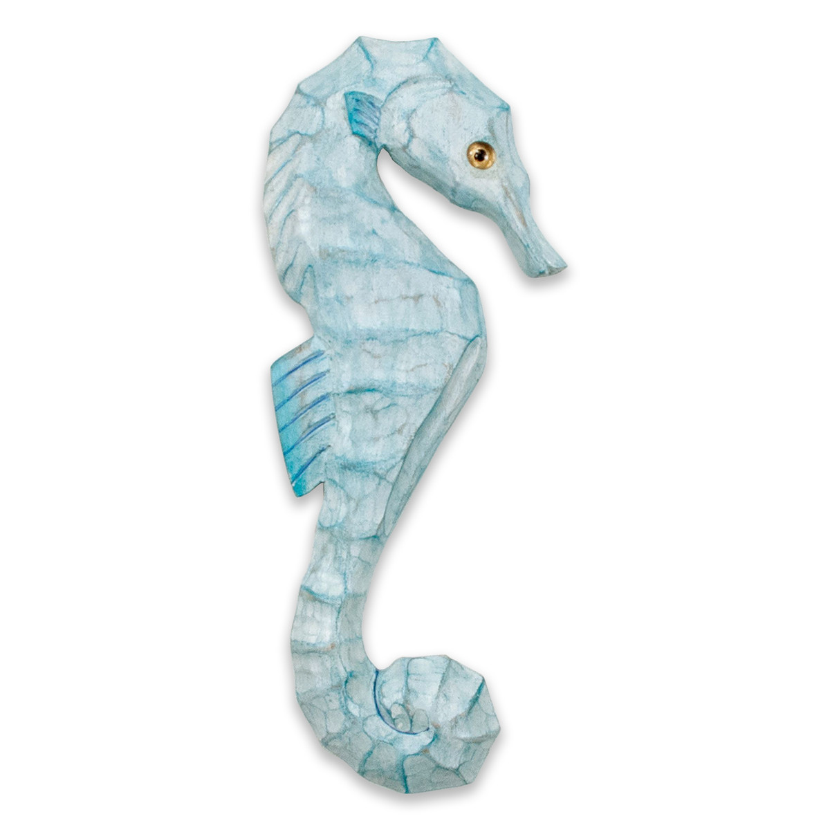 Seahorse Wood Facing Right Wall Sculpture CW118