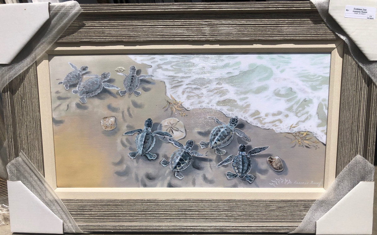 Baby Sea Turtle Painting  34 x 21""