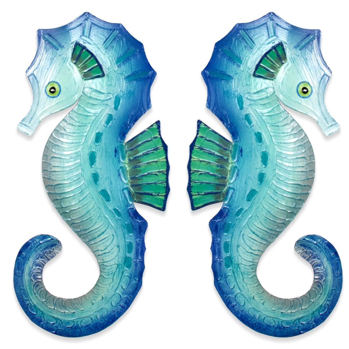 Seahorse Pair Aqua Metal OS112S