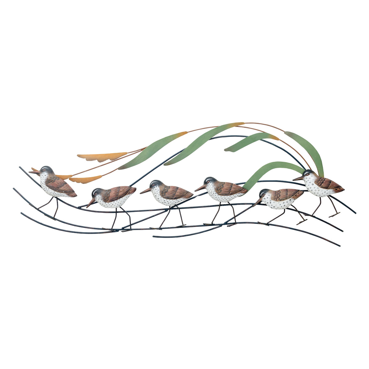 Sandpiper Wave Large - Sea Birds Metal Wall Hanging