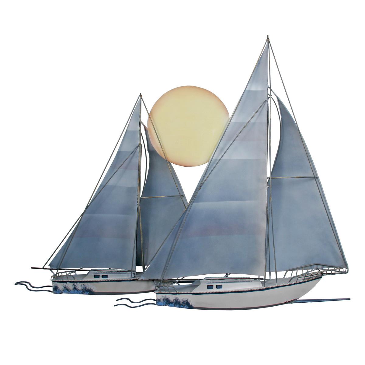 Sunset Sailboat Sculpture