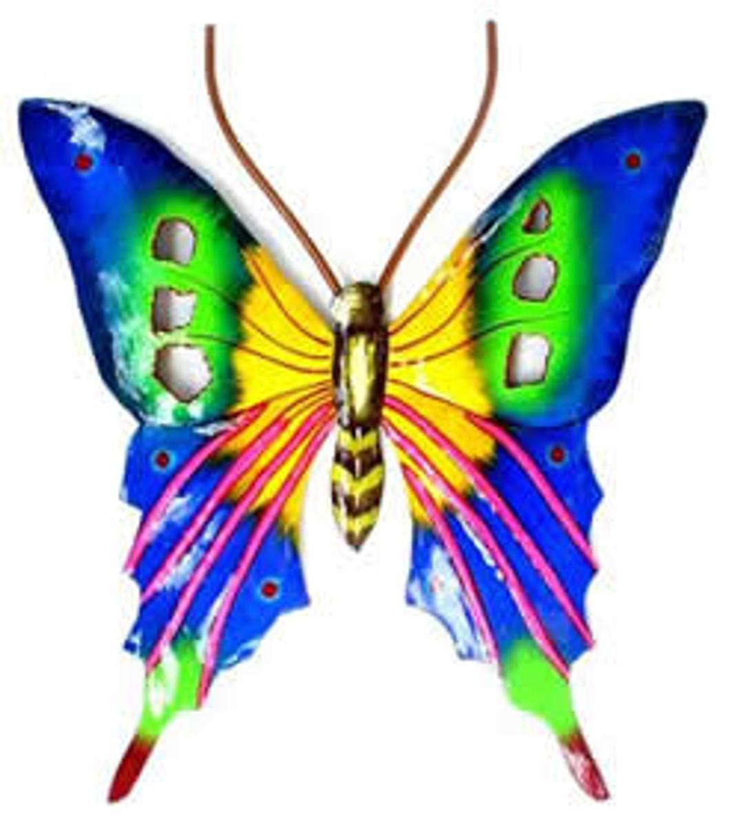 Brillant Butterfly Blue Artwork