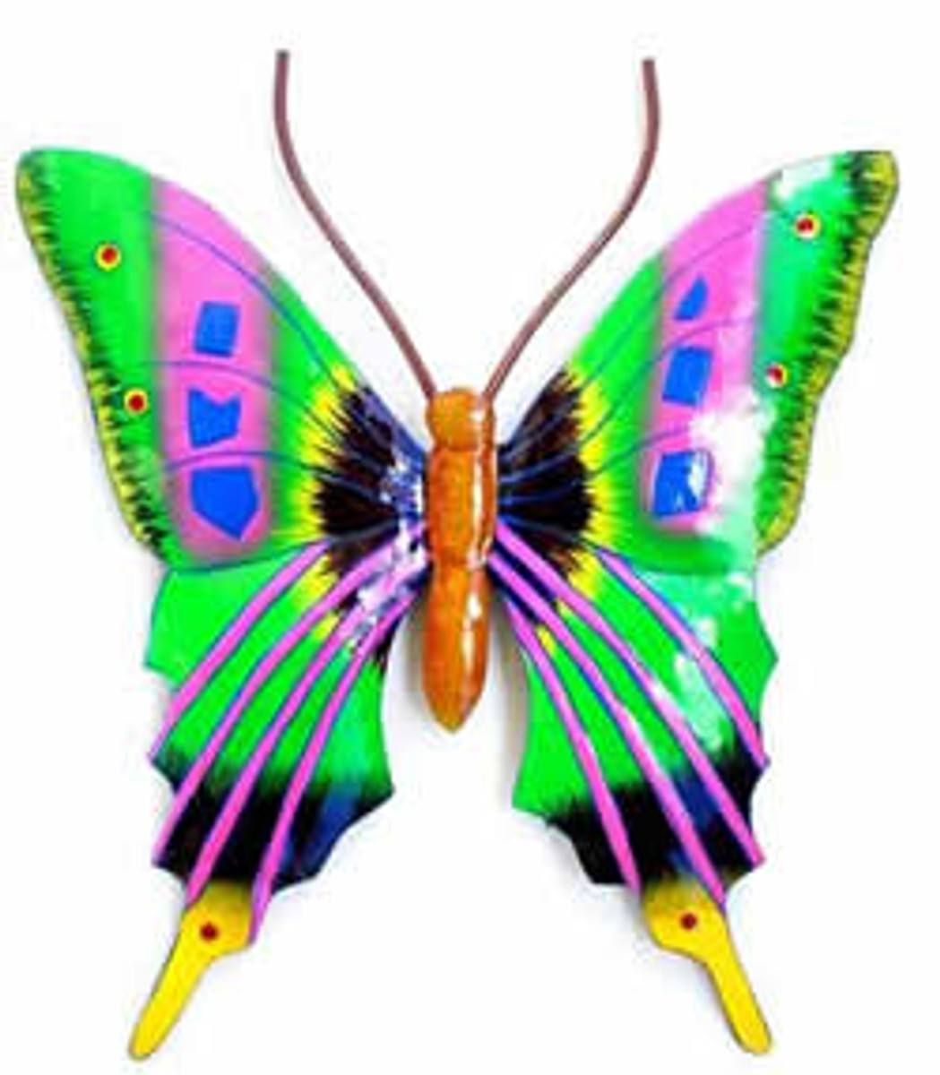 Brillant Butterfly Green with Lavender Artwork
