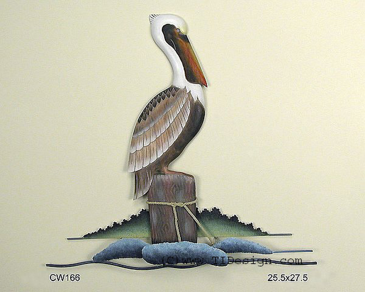 Resting Pelican on Piling Wall Art