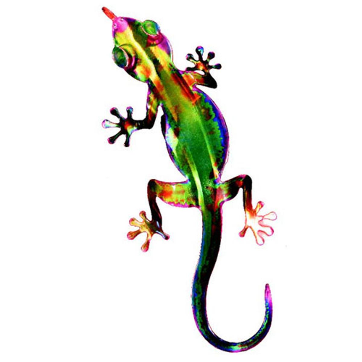 3D Metal Wall Gecko