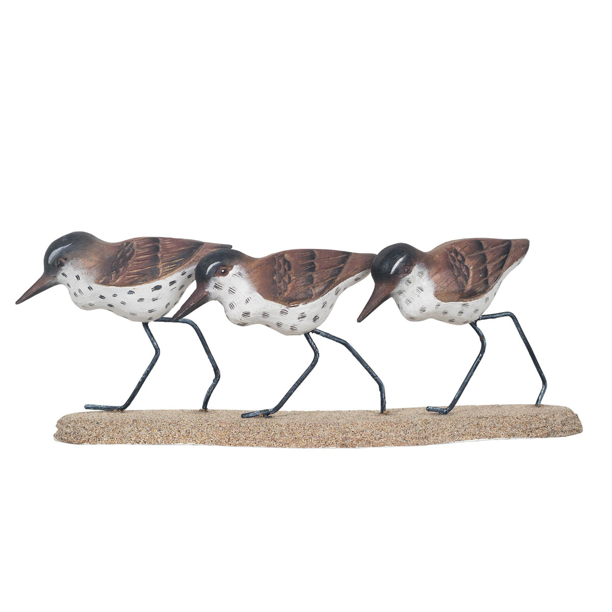 Sandpiper Trio - Hand Carved Wood