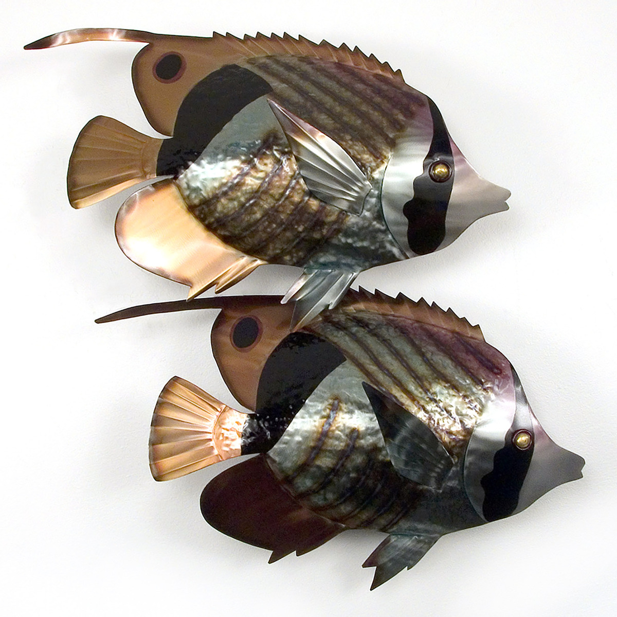 Striped Butterfly Fish Pair