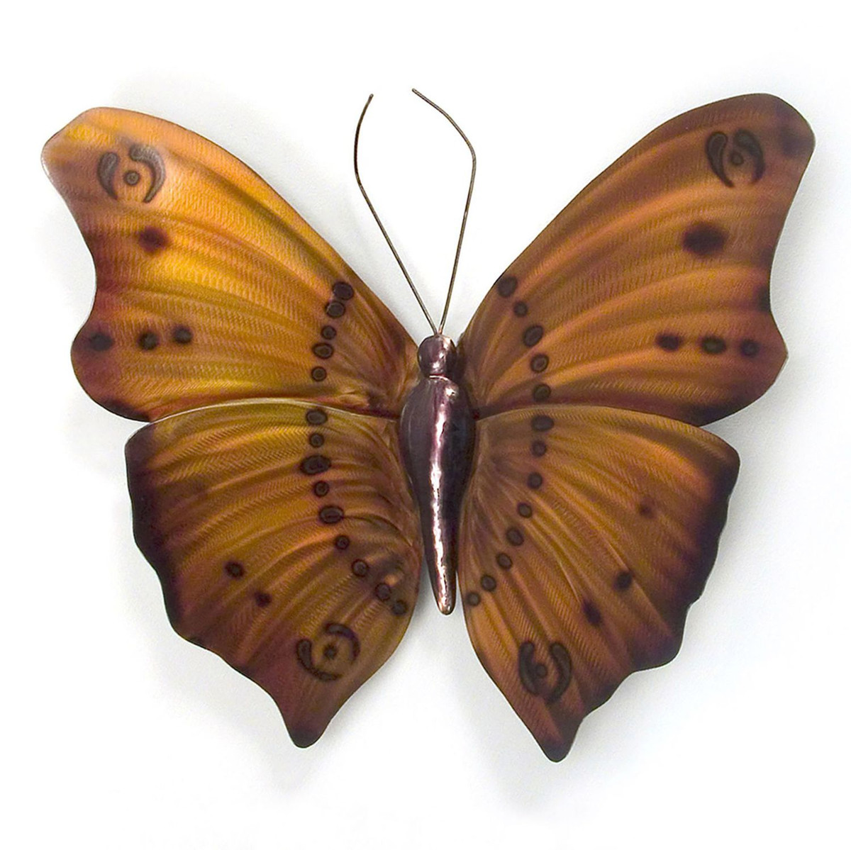 Stainless Butterfly Orange n Brown