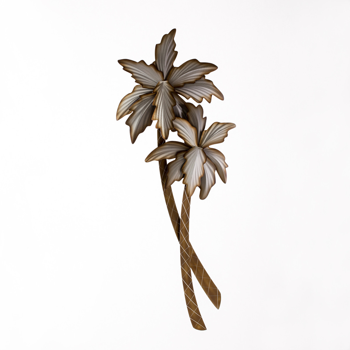 Large Metal Palm Tree Wall Sculpture