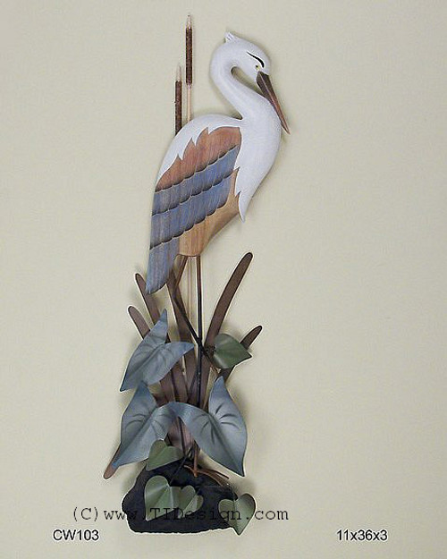Heron Head Down Wall Sculpture